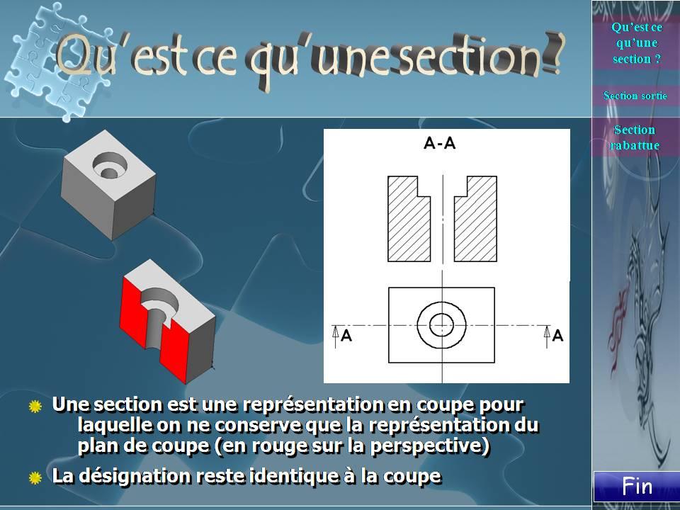 Construction g nie m canique dessin technique industriel - Coupe et section dessin technique ...